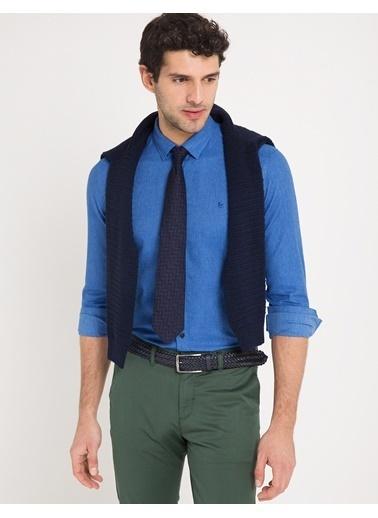 Pierre Cardin Slim Fit Uzun Kollu Gömlek Mavi